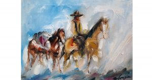 DeGrazia Paints Cowboys