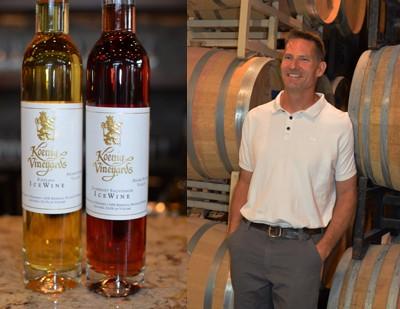 Greg Koenig with Ice Wine at KoenigVineyards