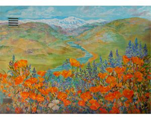 poppies and lupine online jigsaw puzzle