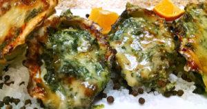 Grilled Oysters Rockerfeller