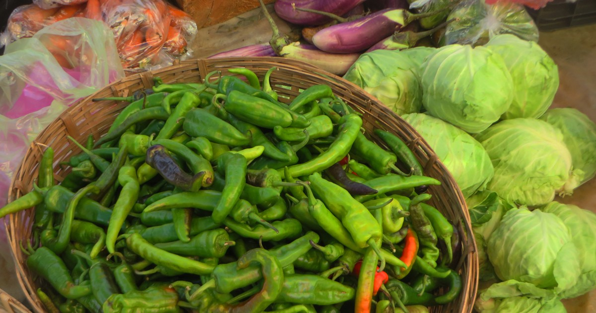 Chilies are used liberally in Bhutanese dishes.