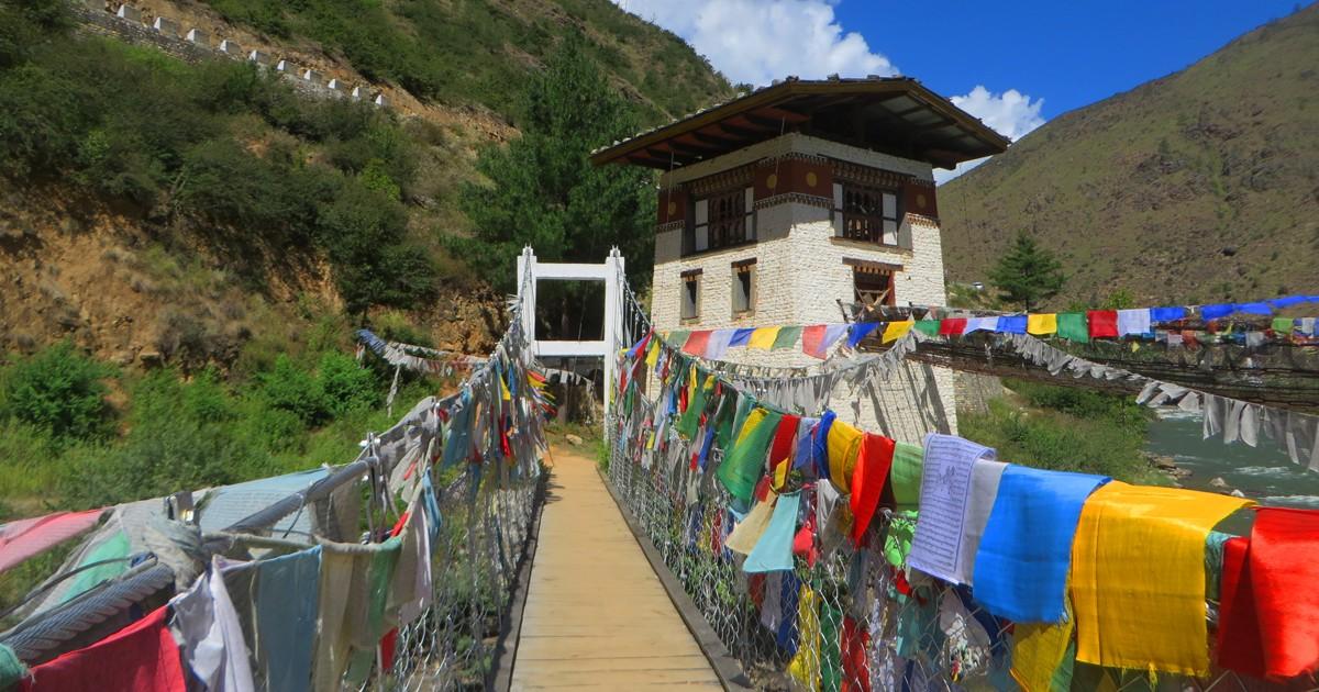 Prayer flags are an ubiquitous sight in Bhutan