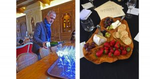 Tasting Champagne with Michel Drapier - wine pairing snacks