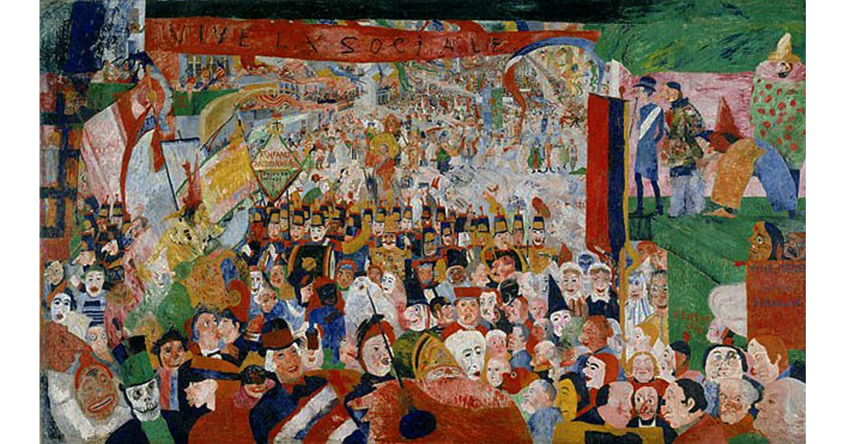 Ensor Christ's Entry into Brussels 1888