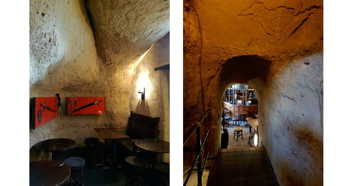 Inside the 'Trip to Jerusalem Inn'