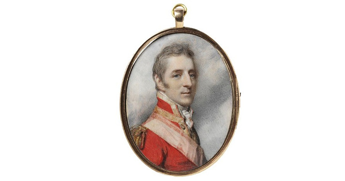 The future Duke of Wellington in 1808, by Richard Cosway.
