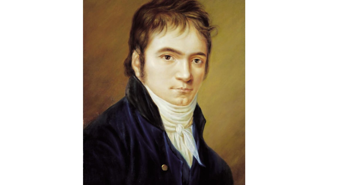 Ludwig Von Beethoven painted in 1802. Beethoven had many paintings done of him but this is reputed to be his favorite.
