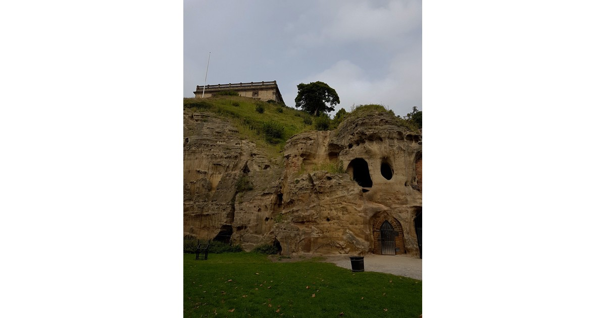 Nottingham early troglodyte dwellings in the cliffs under the Castle