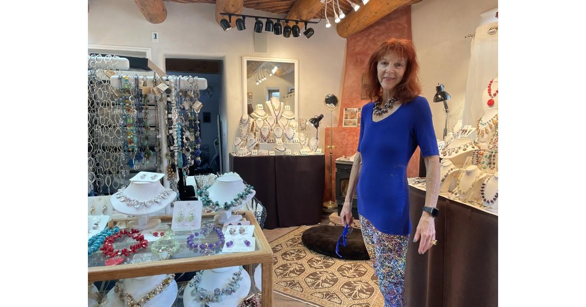 Alice in her jewelry showroom