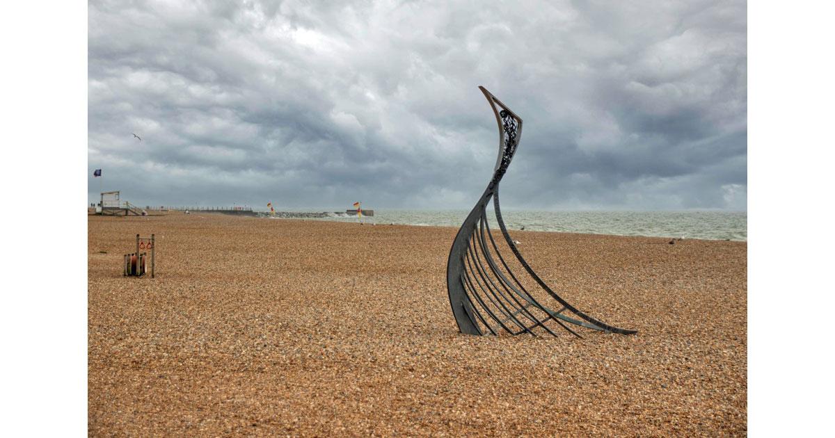 Beach Art - Hastings, UK -by Kathleen Messmer