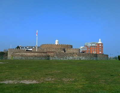 Deal Castle, one of  Henry VIII's fortifications.