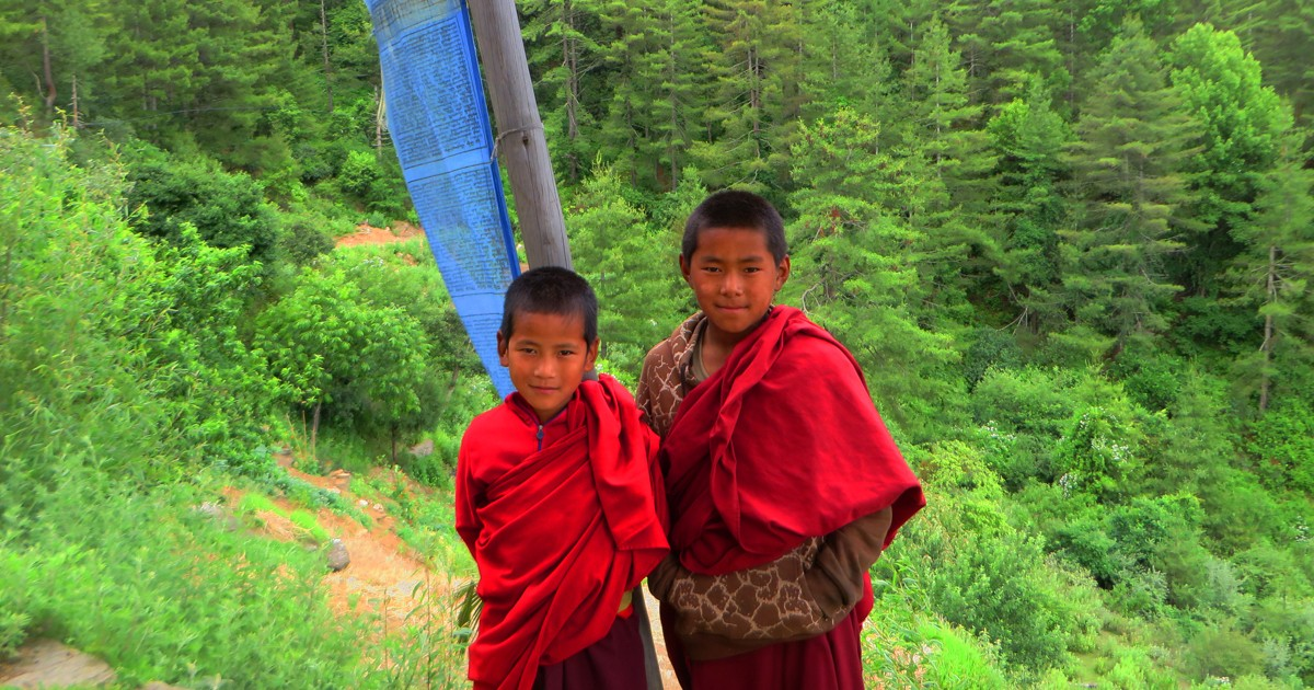 Training to become a monk can start as early as four years old