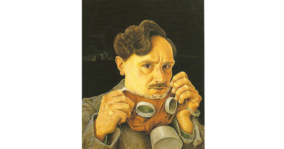 Barthel Gilles Self Portrait with Gas Mask