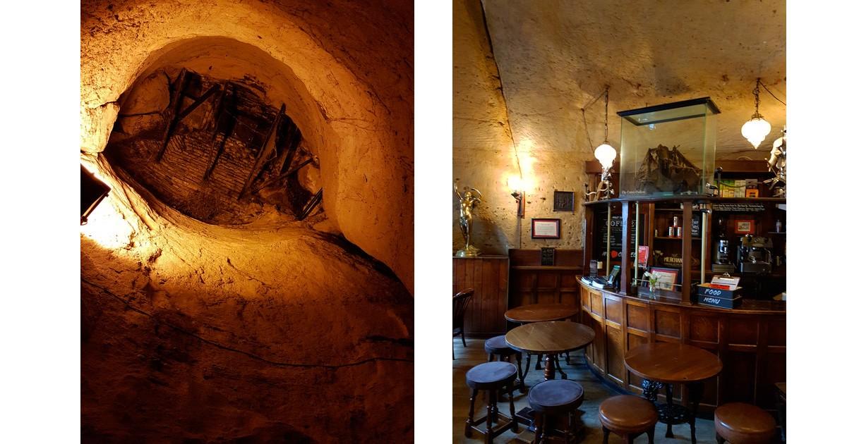 Inside the 'Trip to Jerusalem Inn'