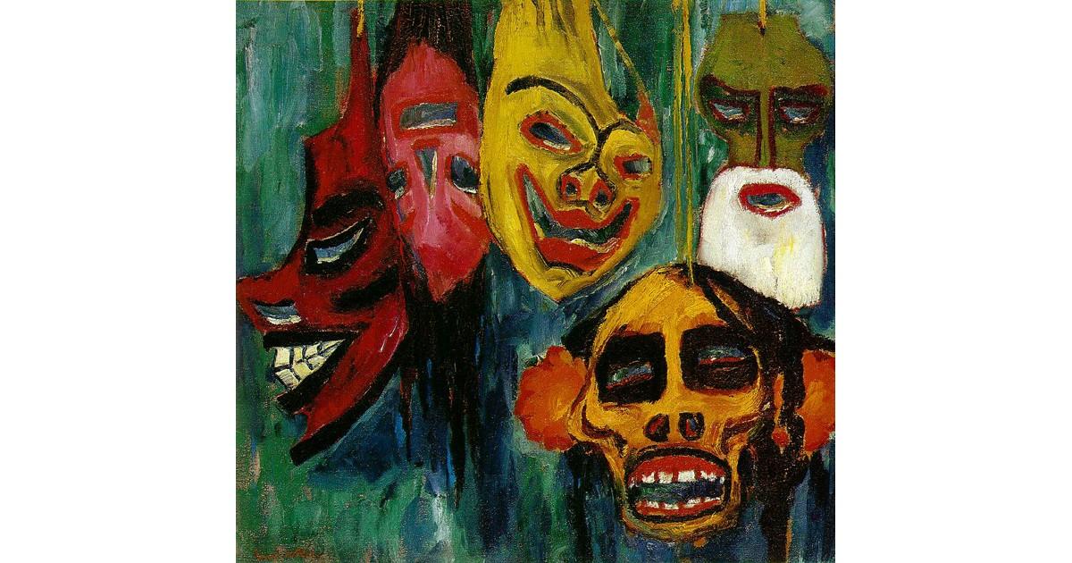 Mask Still-life-1911-by Emil Nolde