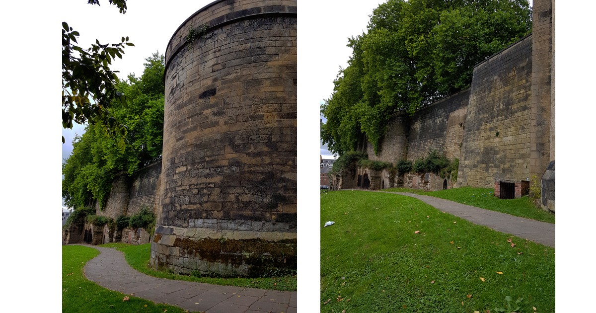Park around the corner from the Nottingham Castle