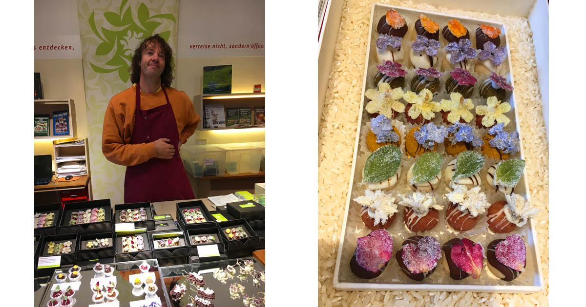 Michael Diewalk turns wild herbs and edible flowers into confectionary art