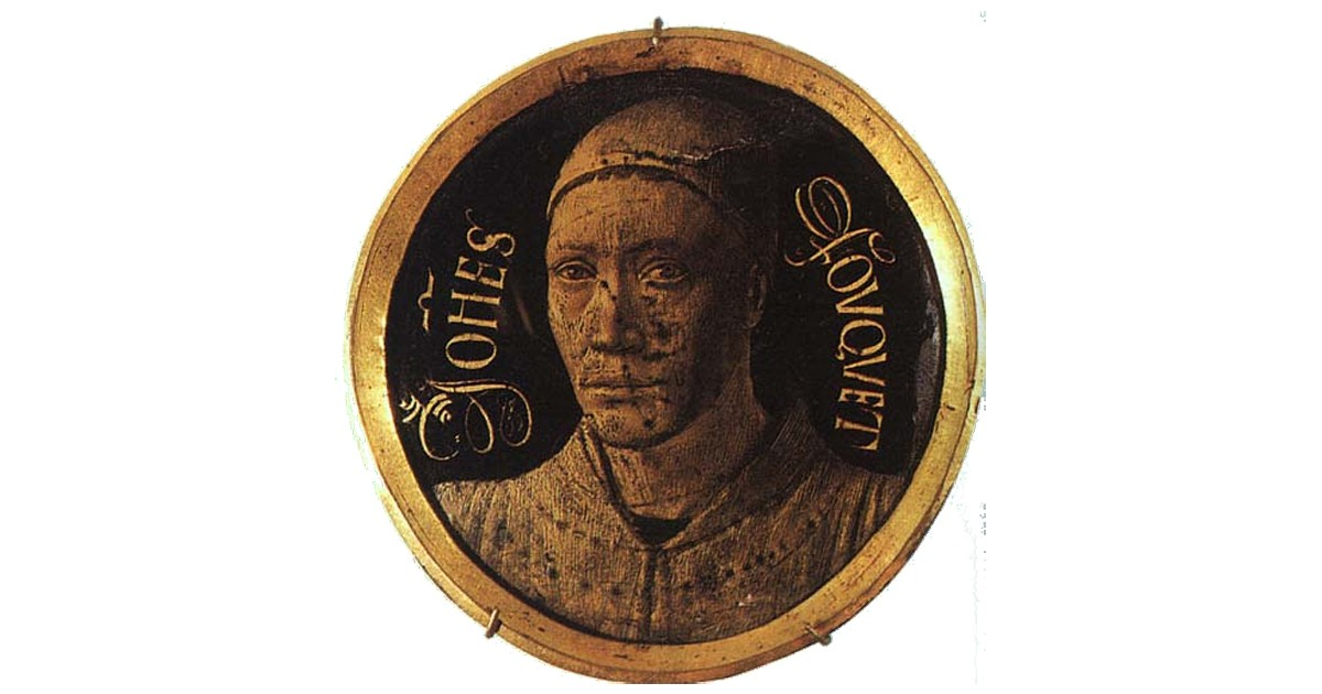 1450 Self Portrait by Jean Fouquet who transitioned from being a manuscript illuminator to painting miniature portraits.
