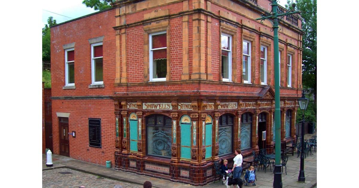 A street corner pub in the Tram Museum