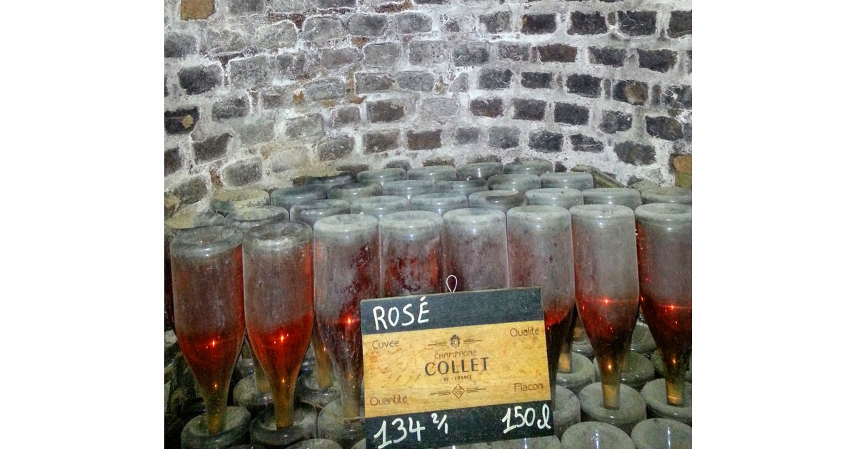Ros+¬ Champagne aging in the cellars of Champagne Collet