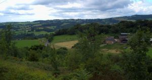 View over the countryside from the Tram Museum