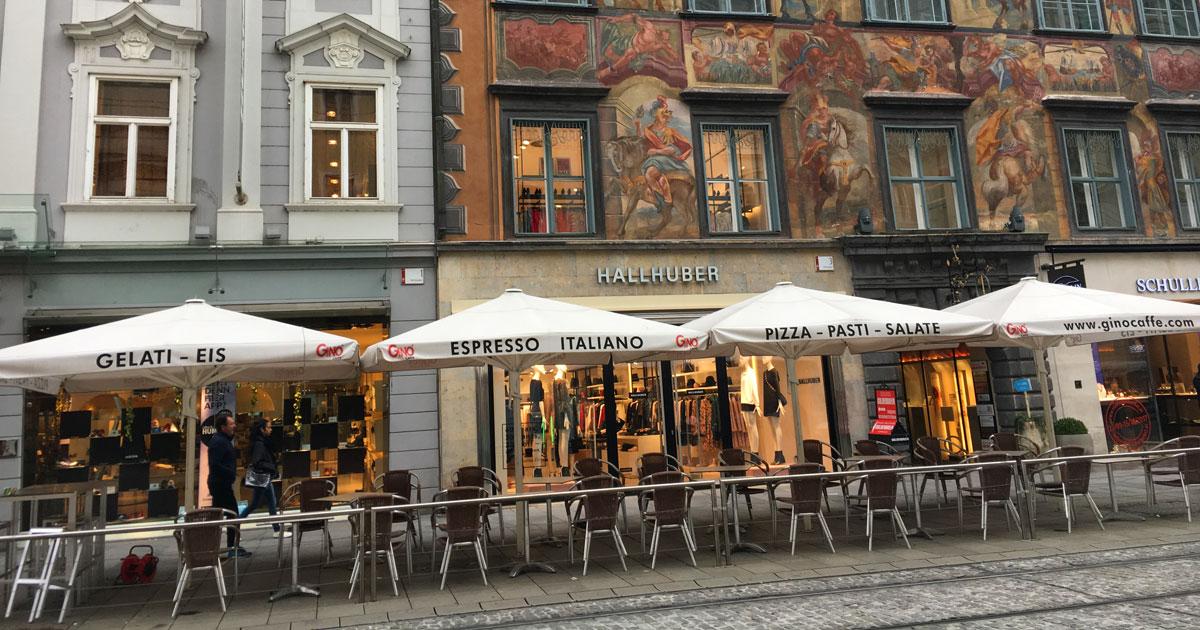 Frescoed building in Graz's Old Town