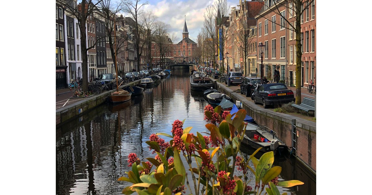Picturesque Amsterdam Canal