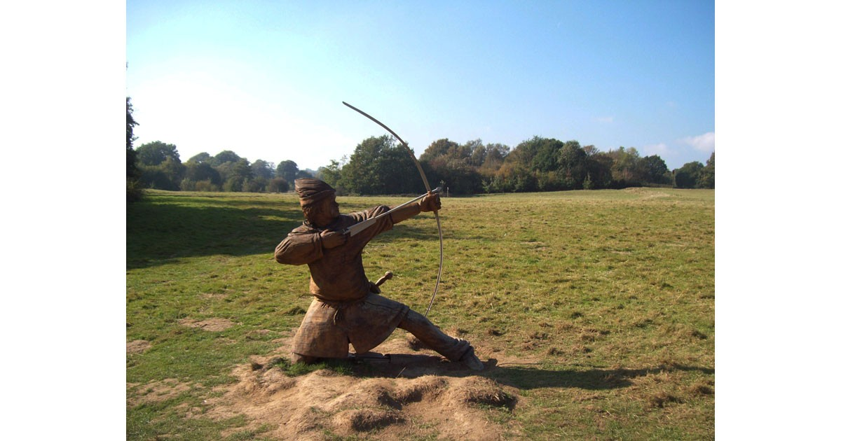 Archer at the site of the Battle of Hastings