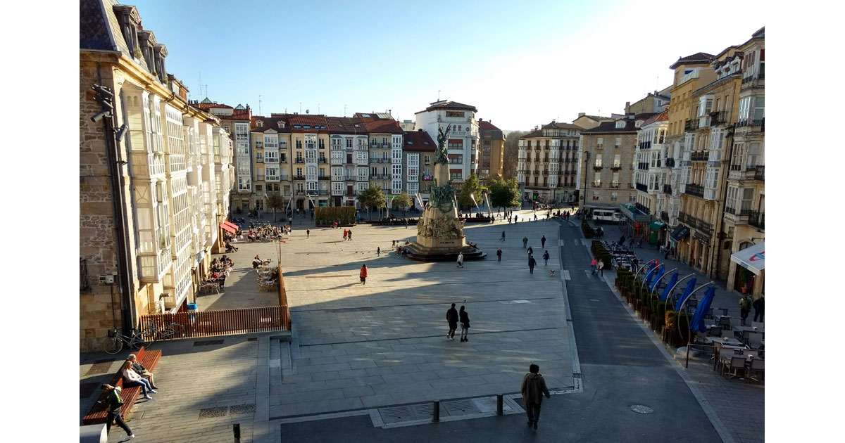 Virgin Blanca Square is the heart of the city of Vitoria-Gasteiz, joining the old and the new.