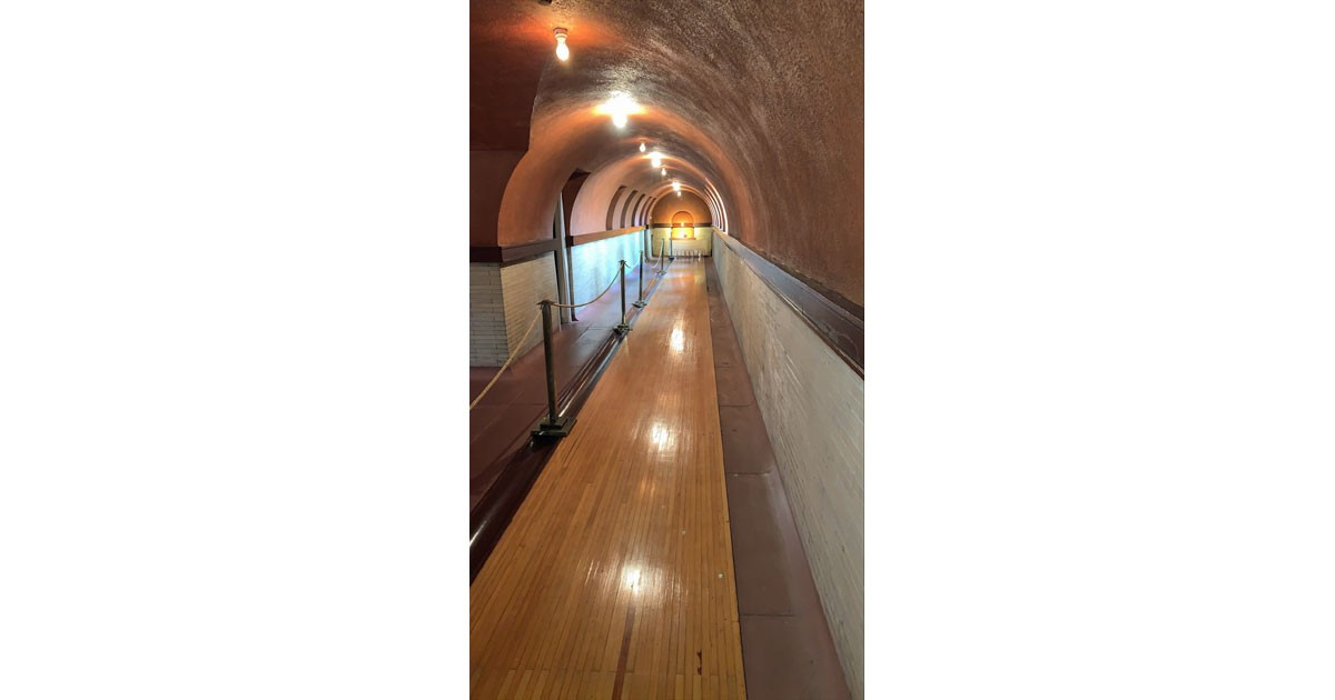 Bowling alley courtesy of the Dana-Thomas House