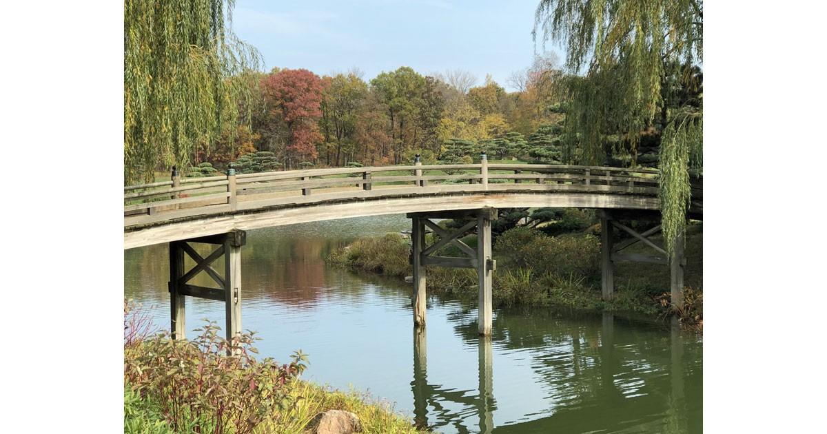 Chicago Botanic Garden in fall