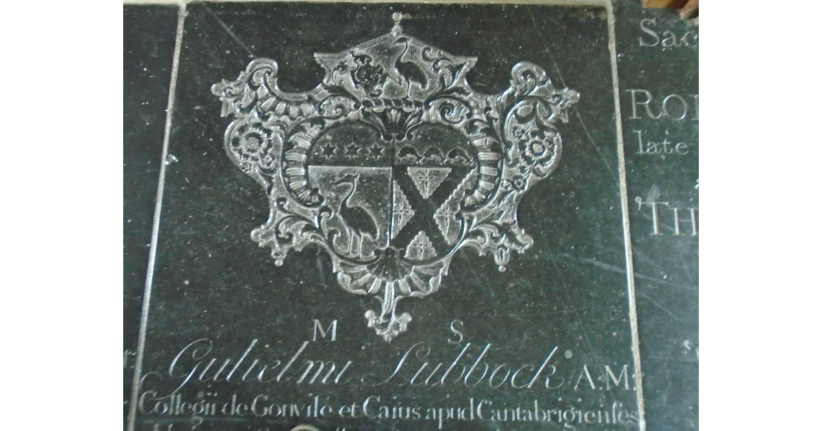 Coat of arms on a tombstone