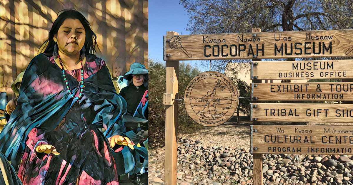 Cocopah Dancer and the Cocopah Museum