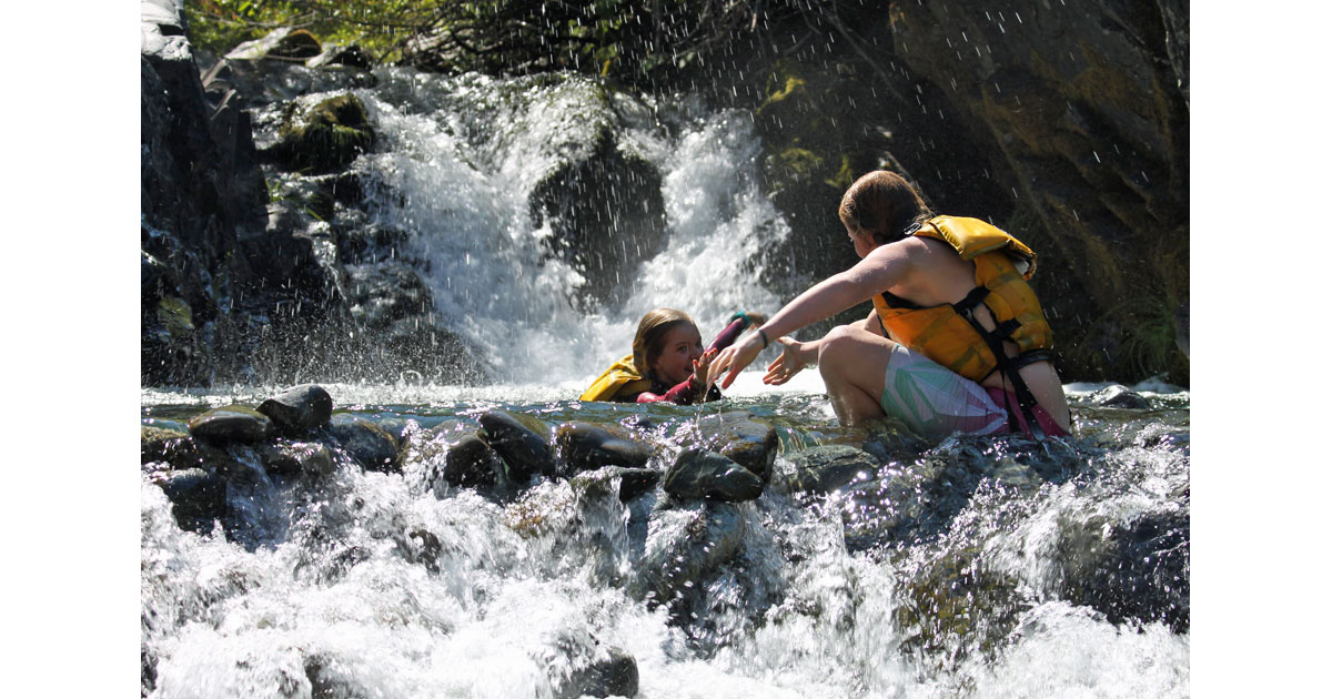 Cooling off in Side Creek: Photo Momentum