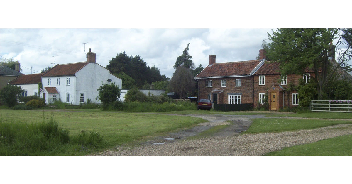 Cottages where my ancestors lived and where I lived in 1959-60 (Taken recently) (Where the car is)