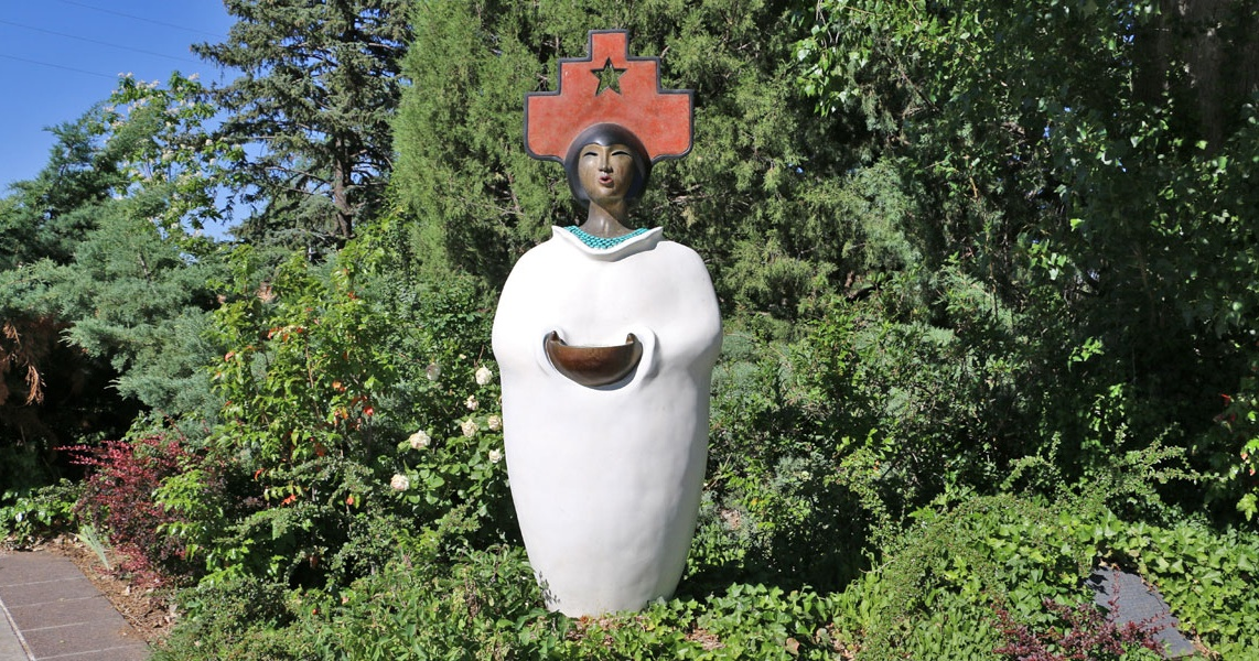 Earth Mother by Estella Loretto at the entrance of the New Mexico State Capitol in Santa Fe