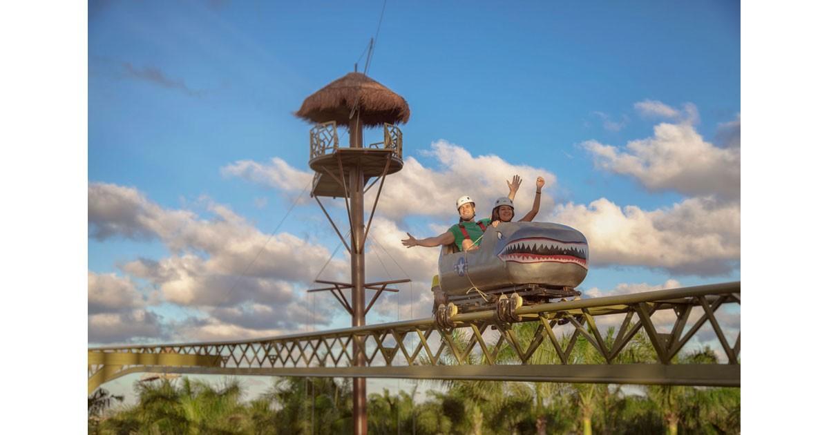 Family travel amusement park at Barcelo Maya