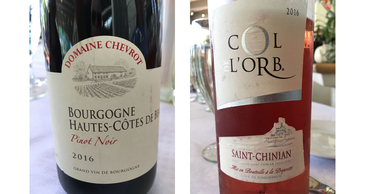 Fine Wines served at Cafe Jardin