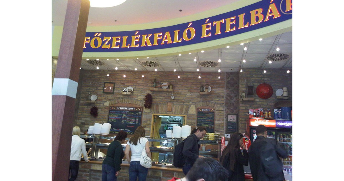 Fozelek Etelbar-- Hungarian Fast Food. Fozelek is generally a creamed vegetable porridge, sometimes served with a hard-boiled egg.