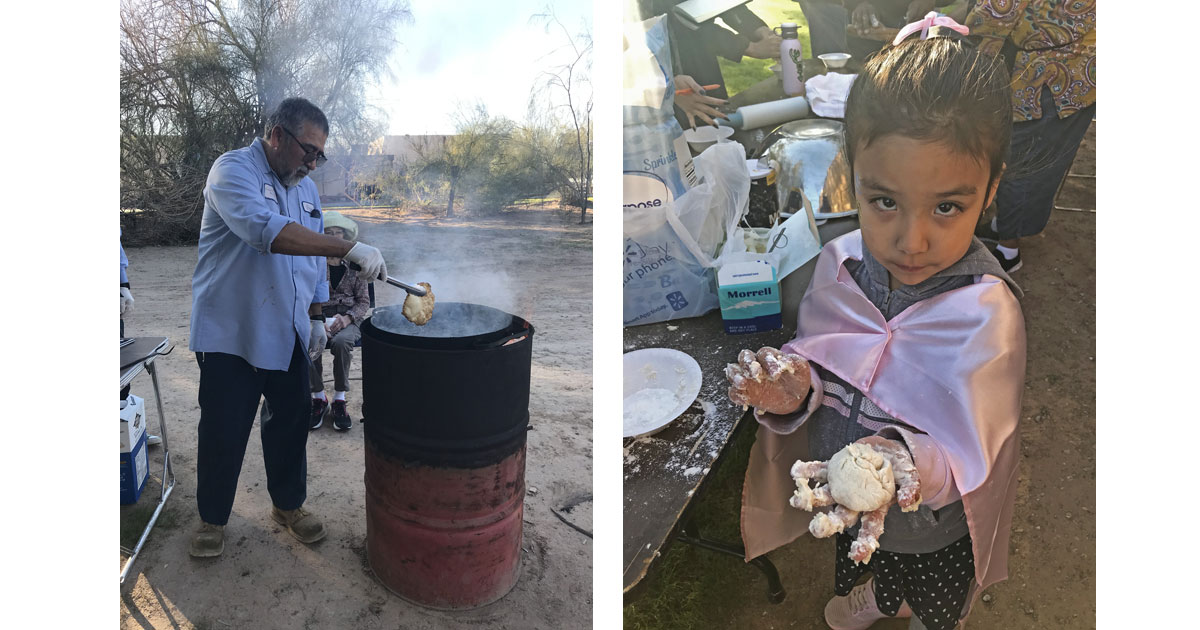 Making Fry Bread at the Cocopah Museum