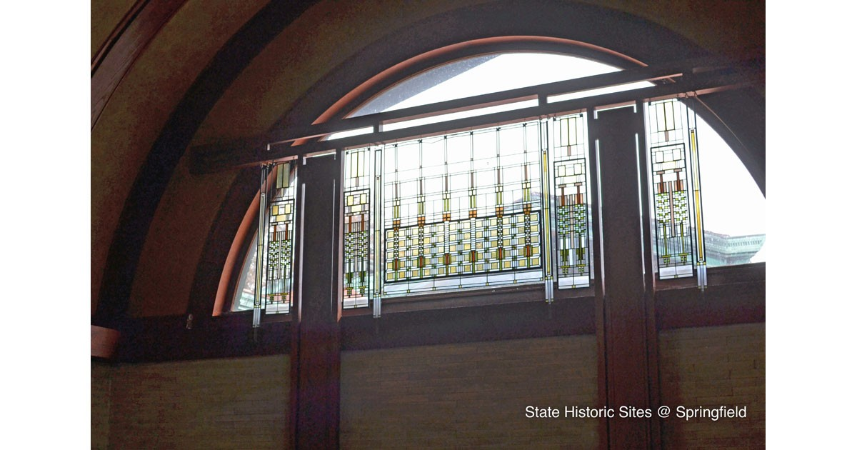 Gallery window courtesy of the Dana-Thomas House