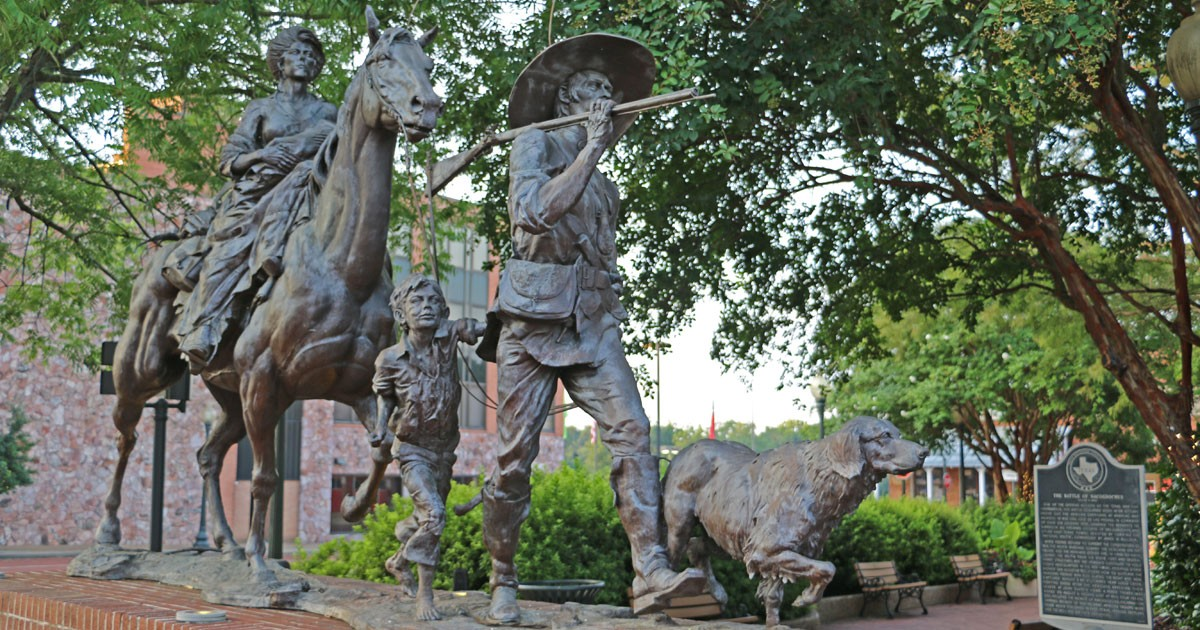 Gateway Statue in Nacogdoches Texas