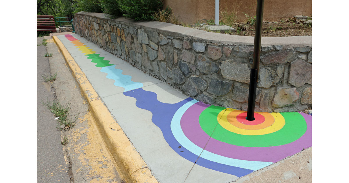 Street Color by the Big Ditch in Downtown Silver City