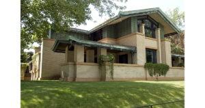 House exterior courtesy of the Dana Thomas House