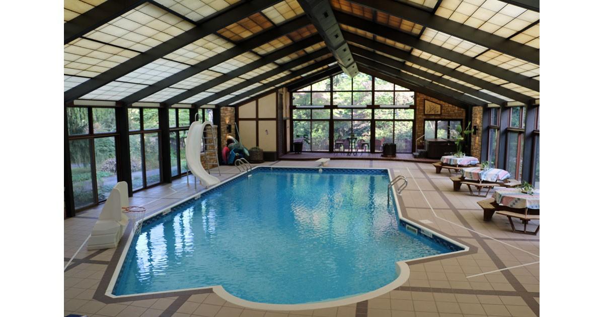 Indoor Heated Swimming Pool at Lancaster Ridge B&B in Ephrata, PA