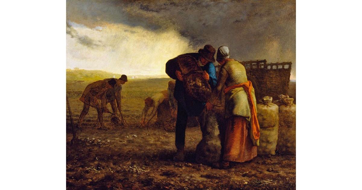 """Potato Harvest"", Jean-Francois Millet, 1855"