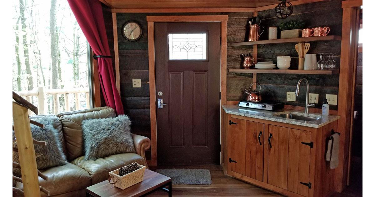 Living Room at the El Castillo. Photo: Mary Farah