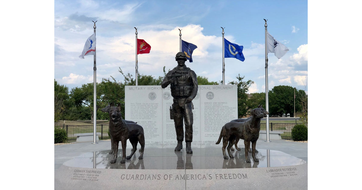 MWDT Monument © MSgt Steven Kaun USAF_USSF Military Working Dog Program Manager