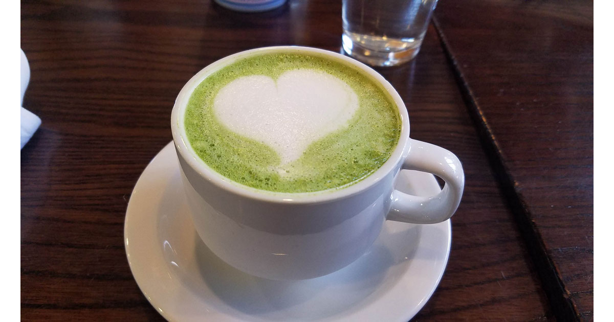 Matcha Latte at The Grove Cafe