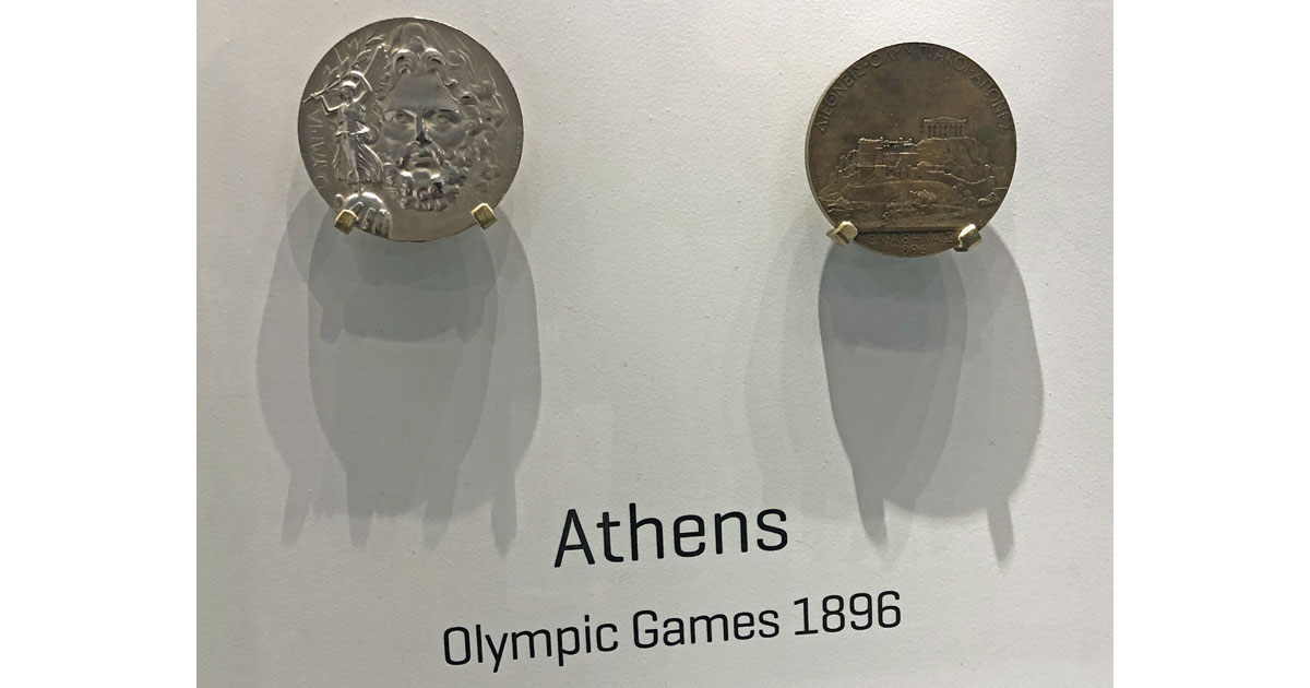 Medals from 1896
